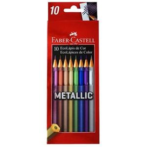 Ecolápis de Cor Metallic 10 Cores Faber-Castell