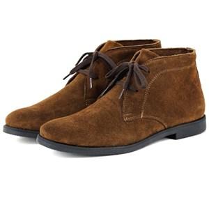 botina chelsea masculina em couro marrom bota casual desert boots