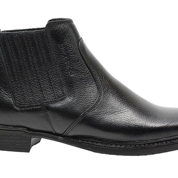 bota masculina para trabalho em couro legitimo preto
