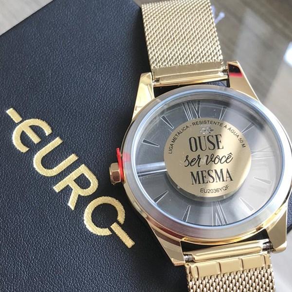 Relógio Euro Feminino Ouse Ser Você Mesma