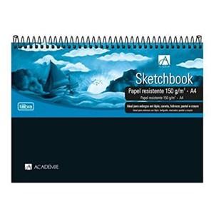 Caderno Desenho Sketchbook Espiral Capa Dura 150g 50 Fls Tilibra