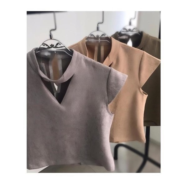 Cropped Suede