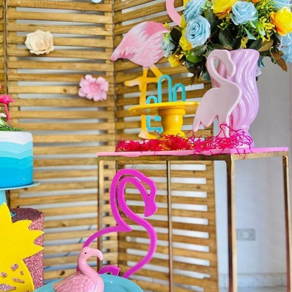 Aluguel,decoração tema Flamingo