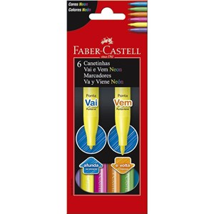 Canetinha Hidrográfica Vai e Vem Neon - Faber- Castell