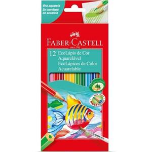 Ecolápis de Cor Aquarelável 12 Cores - Faber-Castell