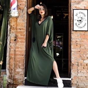 Vestido Max Vanessa- Verde/Marinho