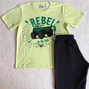 Conjunto Verão Verde Preto Carrinho TAM8