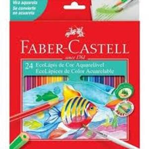 Ecolápis de Cor Aquarelável 24 Cores- Faber-Cstell