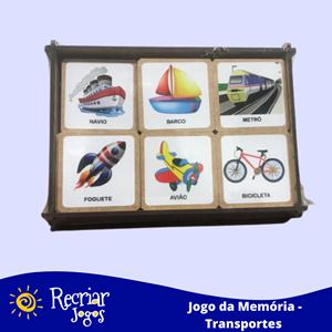 Jogo da Memória - Transportes