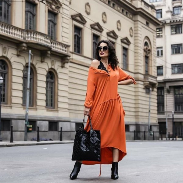 Vestido Sofia- Laranja