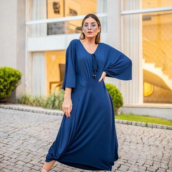 Vestido Mayara - Azul Petróleo