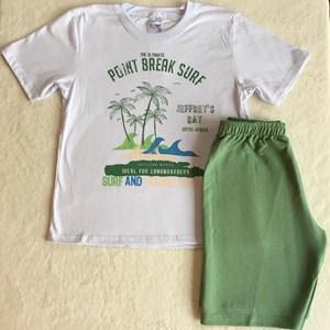 Conjunto Verão Branco e Verde Surf TAM8
