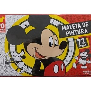 MALETA DE PINTURA COMPLETA MICKEY MOUSE (72 itens)