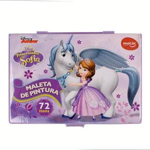 MALETA DE PINTURA COMPLETA (72 itens) PRINCESINHA SOFIA